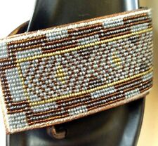 Donald J Pliner Fifi Beaded Wedge Flip-Flops Sandals 8.5 Gold Silver CRUISE