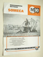 Prospectus Moissonneuse  SOMECA  M 90 Mixte  1963  brochure  catalogue tracteur
