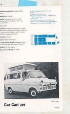 1970 Ford Transit Camper Commer Wanderer Highwayman RV Camper Caravan Ad ws7704