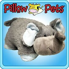 GRAY NUTTY ELEPHANT PILLOW PETS PEE-WEES JUNGLE FIGURE PLUSH STUFFED ANIMAL TOY