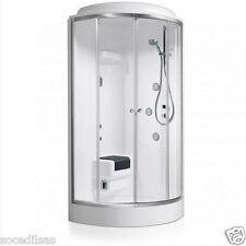 Cabina doccia mod. Techno Eco Glass 90x90 circolare c/anta scorrevole dx e idro.