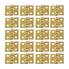 20 PCS Metal Cabinet Copper Hinges Small Hinges For Jewelry Box Wooden Box Door