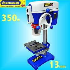Charnwood W370 5 Speed 13mm Chuck Bench Pillar Drill 350w table press with Laser