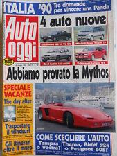 Auto OGGI n°186 1990 Test Mythos - Alfa Romeo 164 3.0 V6 - Corrado 16 V  [Q200]