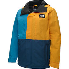 NORTH FACE Mens TURN IT UP Blue & Yellow WATERPRROOF HOODED JACKET NWT  L  $170