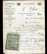 "LILLE (59) ORTHOPEDIE & MATERIEL MEDICAL ""BORGHI / Louis CLERC"" en 1900"
