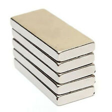 1 and 5 Very Strong Neodymium Block Magnets 25x10x3 mm N52 Grade craft