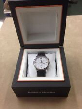 Baume & Mercier Stainless Steel Classima Chronograph Battery Quartz Leather Band