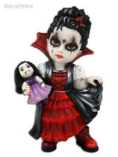 "Beautiful ""Scarlet Fangs"" Vampire Girl with Crow Cosplay Kids Statue"