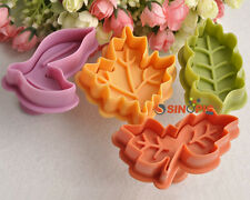 4*Leaf Shape Biscuit Cookie Pastry Cutters Sugarcraft Mold Decorating Mould DIY
