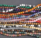 """15.5"""" Wholesale Natural Gemstone Round Spacer Loose Beads 4MM 6MM 8MM 10MM 12MM"""