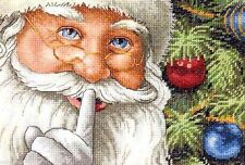 "Dimensions Counted Cross Stitch kit 7"" x 5"" ~ SANTA'S SECRET Sale #08799"
