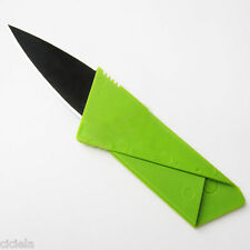 1Pc Green Cardsharp Credit Card Foldable Pocket Wallet Knife Safety Utility Tool