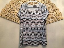 Cute Travelers By Chico's , Short Sleeve, Pullover Top, Size 2, Large