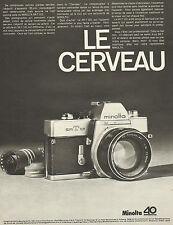 Publicité Advertising 1968  Appareil photo MINOLTA SR-T 101