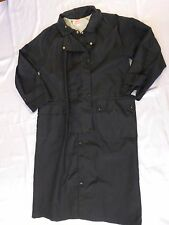 Men's Australian Outback Collection Long Duster Trench Coat - Black Sz S