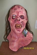 MAGGOT BUFFET ZOMBIE ROTTING FLESH WITH HAIR FULL LATEX MASK COSTUME TA386