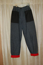 Marino Roma Gray Striped Cotton Pants Size 40 Made in Italy