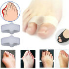 1Pair 2 Hole Women Gel Toe Straighteners Separator Bunion Corrector Pain Relief