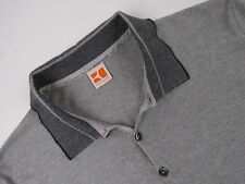R3555 HUGO BOSS ORANGE POLO SHIRT TOP ORIGINAL PREMIUM VINTAGE GREY size L
