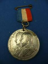 KING EDWARD VII & QUEEN ALEXANDRA CORONATION MEDAL WITH RIBBON BURNLEY 26/06/02