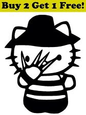 Hello Kitty Freddy Krueger Vinyl Decal Sticker Car Bumper Window Wall Nightmare