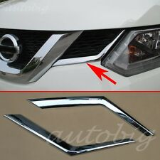 Chrome Front Grille Grill Cover Trim Molding FOR Nissan Rogue X-Trail 2014 2015