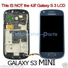 Samsung Galaxy S3 mini i8190 LCD Screen Display + Digitizer & Bezel Frame Blue