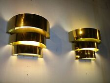 (2) BEAUTIFUL LIGHTOLIER STYLE CASCADING BRASS WALL SCONCE