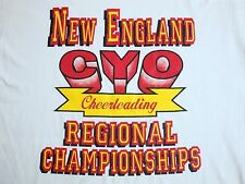 Vintage CYO Cheerleading Championships New England 1993 90's Catholic T Shirt L