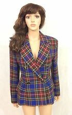 Moschino Cheap n Chic Wool Plaid Blazer Double Breasted Jacket M