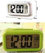Digital Smart Backlit LCD Display Alarm Clock With Snooze Calendar-Green