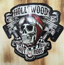 Oldschool Aufkleber Hollywood Hot Rod / Ratrod Skull Sticker Vintage Retro USA
