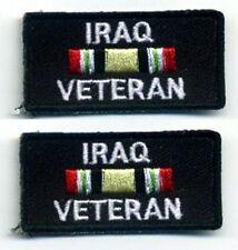 GULF WAR OIF OPERATION IRAQI FREEDOM WAR TROPHY INSIGNIA: IRAQ VETERAN 2-TAB SET