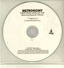 (CW410) Metronomy, Everything Goes My Way - 2011 DJ CD