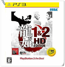 PS3 Ryu ga Gotoku Yakuza 1 & 2 HD Edition JAP SONY PlayStation Sega Action Games