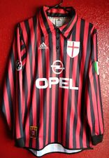 AC Milan 100 years long sleeve jersey Maldini 3 Large Schevchenko 7 Medium
