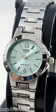 Casio LTP1177A-3A Ladies Aqua Watch Stainless Steel Band Dress Date Display New