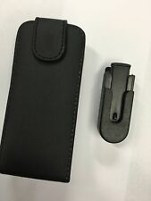 Nokia 6720c Fitted Leather Flip Wallet Case with Swirl Clip Black DLC4406 Br/New
