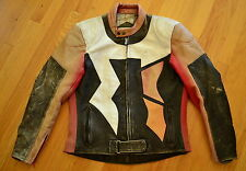 Vintage Distressed FIELDSHEER Heavy Duty Leather Motorcycle Jacket Size 46