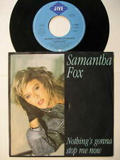 "SAMANTHA FOX ""NOTHING'S GONNA STOP ME NOW"" - 7"" SINGLE"