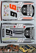 NASCAR DECAL # 9 and #19 CHARGER.com/CHARGER 2005 DODE KAHNE/MAYFIELD JWTBM