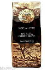 MOCHA LATTE Royal Kona 8 oz medium light roast ground Kona coffee
