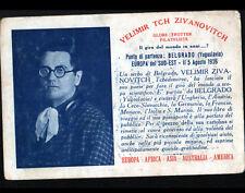 GLOBE TROTTEUR / Velimir ZIVANOVITCH Serbe / Carte de Visite à PARIS en 1926
