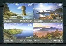 Indonesia 2017 MNH Tourism Destinations Danau Toba Mandalika 4v Block Stamps