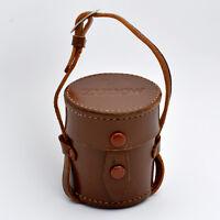 VERY RARE VINTAGE ZUNOW F=5cm 50/1.1 Leather Rangefinder Hard Lens Case (#080)