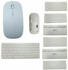 Wireless Bluetooth Keyboard and 2.4GHz Cordless Optical Mouse Apple Mac White