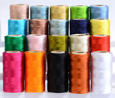20 Assorted Rayon Silk Machine Embroidery Thread (20 Asort- Colours Spools Set)