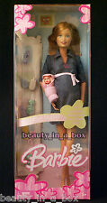 Pregnant Midge & Baby Barbie Doll Tummy Bump Family Happy Denim Dress NRFB ""