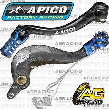 Apico Black Blue Rear Brake & Gear Pedal Lever For Yamaha YZ 450F 2012 Motocross